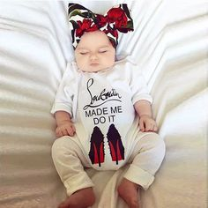 2e236a8cd1ee Puseky Funny 2018 Autumn Cotton Newborn Baby Girl Boy Clothes High Heel  Shoes Printed Romper Jumpsuit