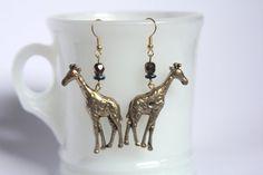Giraffe earrings by LizzyBee Designs on Etsy