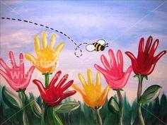 KATY KID'S KAMP - Handprint Garden - Katy, TX Painting Class - Painting with a Twist