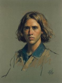"Pastel 29"" x 21"". Portrait by Daniel E. Greene."