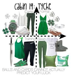 """Cabin 19: Tyche"" by aquatic-angel ❤ liked on Polyvore featuring Missoni, UGG Australia, NIKE, S.W.O.R.D., Topshop, Apt. 9, Amanda Rose Collection, Belk Silverworks, Dsquared2 and Chicwish"