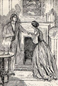 Jane Eyre and Mr. Rochester illustration.