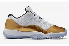 http://www.bejordans.com/air-jordan-11-retro-low-white-gold-black-big-discount-7h28b.html AIR JORDAN 11 RETRO LOW WHITE GOLD BLACK BIG DISCOUNT 7H28B Only $96.00 , Free Shipping!