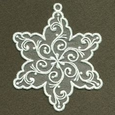 Organza Decorative Snowflake 10 - 4x4   What's New   Machine Embroidery Designs   SWAKembroidery.com Ace Points Embroidery