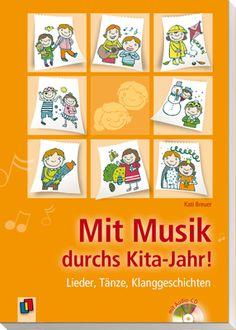Mit Musik durchs Kita-Jahr! - Lieder, Tänze, Klanggeschichten ++ Ein ganzes #Kita-Jahr voller #Musik, ohne Vorkenntnisse und (fast) ohne #Instrumente. Durch neue# Lieder, #Tänze, Klanggeschichten oder Rhythmusspiele zu allen Themen im Kita-#Jahreskreis erhalten die Kinder vielfältige Zugänge zur Musik. Alle Ideen enthalten Angaben zu Material, Gruppengröße und Dauer und lassen sich einfach durchführen. Auf der mitgelieferten CD ist jedes Lied enthalten.