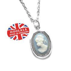 Jane Austen Pride and Prejudice Cameo Locket Charm by hoolala