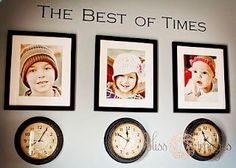 The Best of Times--clocks stopped at the times on which your children were born. Such a precious idea.