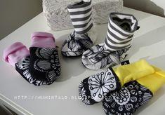 MUMINTALO: Töppösiä,lapasia ja koululaiselle neulostakki