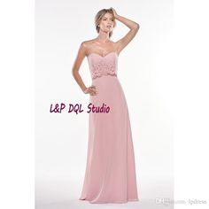 2017 New Arrival Chiffon with Lace Bridesmaid Dresses Long Wedding Party Dresses Sweetheart Sleeveless Backless Garden Style Chiffon Bridesmaid Dresses Bridesmaid Dresses Pink Bridesmaid Dresses Online with $99.0/Piece on Lpdress's Store | DHgate.com
