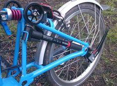 BIKEfun colour rear shock, Aluminun EZwheels,  Colorplus+ Kickstand.