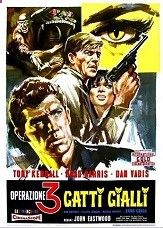 Kommissar X: Drei Gelb Katzen (1966) $19.99; aka: Death Is Nimble, Death Is Quick; Two Yanks (Tony Kendall and Brad Harris) are hired to protect a rich lady from a sinister underworld group. See jungle thrills, martial arts, ancient temples, huge explosions and sci-fi elements. Watch for Harris great karate fight inside a crumbling temple, surrounded by members of an ancient sect. Also with Ann Smyrner and Dan Vadis. This film came from a widescreen import print in excellent picture qu...
