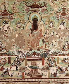 Murals in Yulin Caves, Dunhuang, China