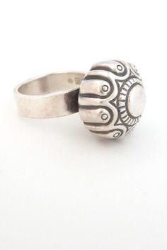 Kalevala Koru, Finland - large dome silver ring #Finland #ring