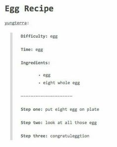 step four: admire egg