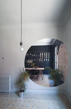 Interesting use of office wall space - HUB madrid
