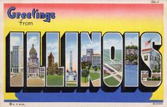 Greetings from Illinois - Large Letter Postcard by Shook Photos, via Flickr