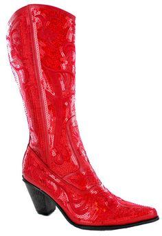 Helen's Heart Red Full Bling Western Boots - Teramasu $114 http://www.teramasu.com/collections/boots/products/helens-heart-red-full-bling-western-boots