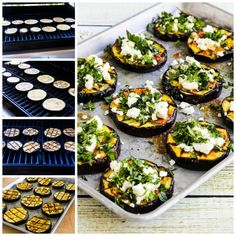 Grilled Eggplant with Garlic-Cumin Vinaigrette, Feta, and Herbs is a delicious way to cook eggplant that even eggplant avoiders will enjoy! Garlic Recipes, Veggie Recipes, Lunch Recipes, Healthy Recipes, Free Recipes, Ways To Cook Eggplant, Grilled Eggplant Recipes, Snacks Sains, Good Food