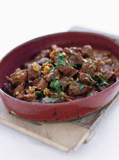 Jamie Oliver's Rogan Josh (Lamb Curry)...this is not the correct pic but it won't let me pin it! Did a rendition of this tonight and it was delish!