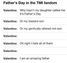 A very mortal instruments Father's Day
