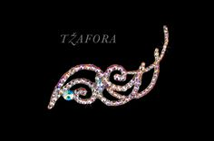 Ballroom hair accessories and ballroom jewelry made with Swarovski, available at www.tzafora.com © 2014 Tzafora