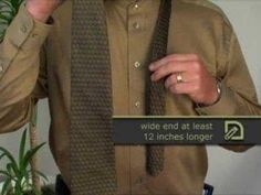 How To Tie A Tie: The Half Windsor