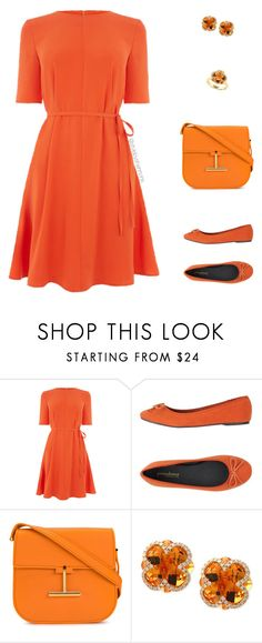 """""""Contest: Pumpkin Spice: Head-to-toe"""" by stylebyshannonk on Polyvore featuring Warehouse, PrimaDonna, Tom Ford and Effy Jewelry"""