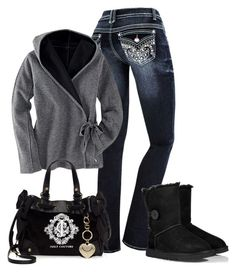 """""""Untitled #311"""" by bayelle ❤ liked on Polyvore featuring UGG Australia and Juicy Couture"""