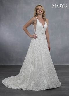 50231e417eb Marys Bridal Bridal Wedding Dresses dress with Style - Fabric - Lace  Organza Tulle Charmeuse and Color - Ivory Sand