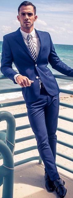 Men's Fashion   Menswear   Nice Suit and Tie for Spring/Summer Weddings   Moda Masculina   Redefine your Style and Shop at designerclothingfans.com