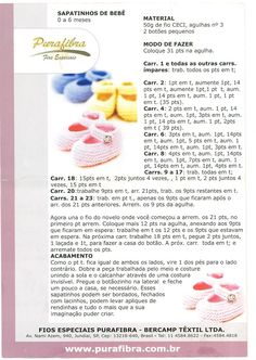Oi amigas!   Sapatinho lindinho em trico:                  receita em português:       aqui em vídeo:             vídeo em português de Jaq... Baby Knitting Patterns, Baby Booties Knitting Pattern, Knit Baby Shoes, Baby Shoes Pattern, Knit Baby Booties, Baby Boots, Knitting Socks, Knitting Designs, Baby Patterns