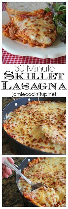 30 Minute Skillet Lasagna Jamie Cooks It Up!