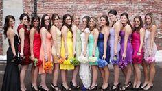 UaU! Vamos Casar!: Madrinhas e Demoiselles   Adoramos madrinhas coloridas!