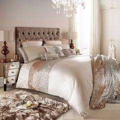 Kylie Minogue Mezzano Rose Gold Super King Duvet Cover