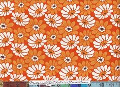 retro daisy fabric
