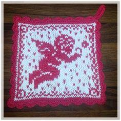 Knitting Charts, Knitting Patterns, Crochet Patterns, Crochet Potholders, Knit Crochet, Homer Decor, Crochet Kitchen, Christmas Hat, Double Knitting
