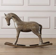 Vintage Wood Carousel Horse, Restoration Hardware Baby & Child, $249