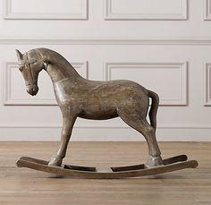 Vintage Wood Carousel Horse, Restoration Hardware Baby & Child, $249
