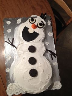 Ill be a happy snowman Olaf cake Pinteres