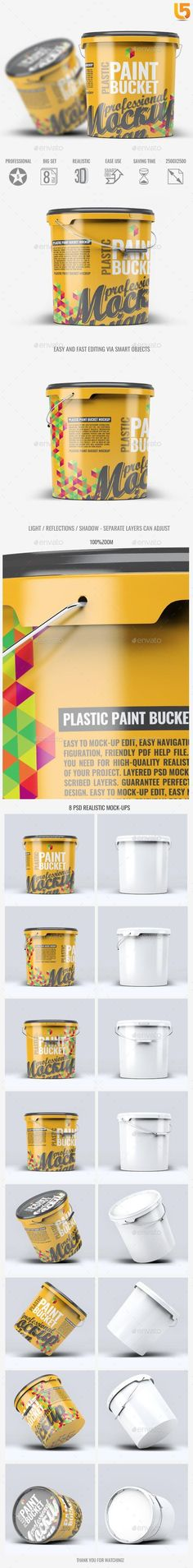 Buy Plastic Paint Bucket Mock-Up by on GraphicRiver. Plastic Paint Bucket Mock-Up Features 8 Photorealistic presentations Photoshop CS or higher compatible PSD files Reso. Box Mockup, Mockup Templates, Paint Buckets, Painting Plastic, Photoshop Actions, Lightroom Presets, 3 D, Packaging, Branding