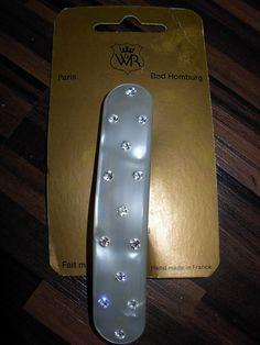 edel Haarschmuck, Haarspange von W&R mit Swarovski Steinen