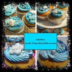 Nuestra entrega para hoy Cup cakes Frosting Celeste, Disfrutalos Patricia Uribe