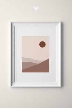 Add some warm colors to your space by including this printable of a minimal desert-inspired landscape art print. Abstract Canvas, Abstract Posters, Bohemian Art, Boho, Paper Mosaic, Desert Art, Poster Design Inspiration, Sun Art, Simple Art