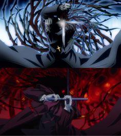 Alucard Pinning for the symmetry Manga Anime, Anime Demon, Anime Guys, Anime Art, Hellsing Ultimate Anime, Hellsing Alucard, Arte Do Harry Potter, Otaku, Bleach Art