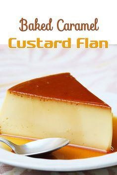 Baked Caramel Custard Flan