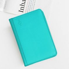 Leather Passport Card Holder with RFID Signal Blocking Technology