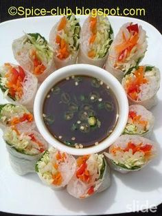 Summer roll with soy dip