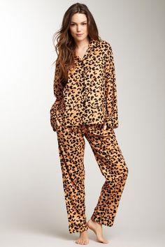 Fuzzy PJ Pants | ... print fuzzy pj pants green cheetah print ...
