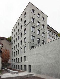 Meier Leder Architekten - Bärengraben housing, Baden 2015. Photos © Oliver Lang.