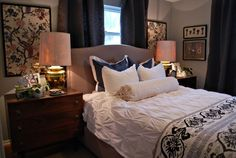 15 Most Stylish Eclectic Bedroom Decorating Ideas To Learn From Small Master Bedroom, Master Bedroom Update, Bedroom Colors, Eclectic Decor Bedroom, Eclectic Bedroom, Bedroom Layouts, Dining Room Decor Diy, Bedroom, Cozy Living Rooms